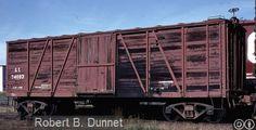 GT, Grand Trunk 40' Single Door Wood Boxcar, 74093 September 26th, 1981…