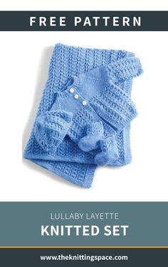 Lullaby Layette Knitted Set [FREE Knitting Pattern] This precious set of knitted booties, cardigan, hat, and blanket is the. Baby Knitting Patterns Free Newborn, Baby Cardigan Knitting Pattern Free, Baby Sweater Patterns, Baby Clothes Patterns, Free Knitting, Baby Set, Baby Pullover Muster, Layette Pattern, Knitted Baby Clothes