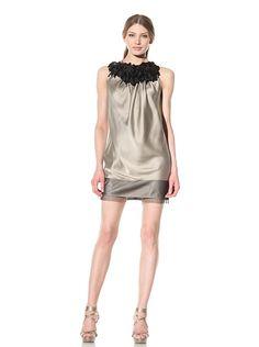 06d3a8bb3a Vera Wang Sleeveless Racerback Dress Fringe Shoulder Detail Vera Wang,  Dress Me Up