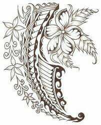 Polynesian with flowers