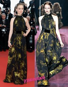 Bella Heathcote de Gucci en la alfombra roja de Cannes