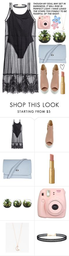 """dresses under $100"" by enola-pycroft ❤ liked on Polyvore featuring H&M, Topshop, Too Faced Cosmetics, Fujifilm, Full Tilt, Katie, LULUS, dress, under100 and dresscontest"