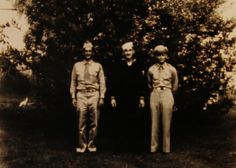 World War II . Herert Anderson, William J. Anderson, Frank Fair. 1943 in Killbuck, Ohio.