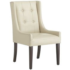 Mason Wingback Dining Chair - Ivory.  These will go nicely with the table I pinned from World Market!