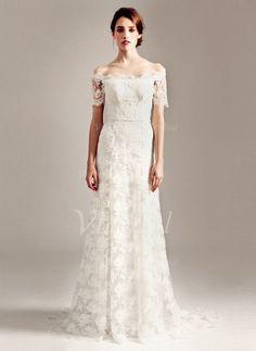 Abiti per matrimonio - $186.99 - A-Line/Principessa Abiti senza spalline Sweep/Spazzola treno Pizzo Abito per matrimonio (00205003273)