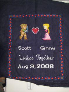 Linked Together Zelda Wedding Sampler - NEEDLEWORK