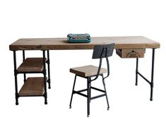 Modern Wood Desk. Reclaimed Wood With Steel Legs In Your Choice Of Style And…