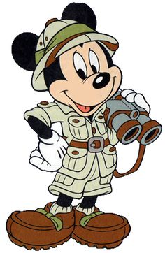 Mickey Mouse, on safari