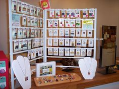 Easy, Inexpensive Craft Displays w/Closet Organizers & Magnets