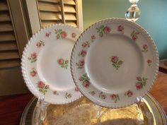 VINTAGE Pair of PLATES Windsor Ware F.B.& by VintageCreativeAccen
