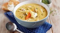 Look at this recipe - Roast Chicken and Vegetable Soup - and other tasty dishes on Food Network. Roast Chicken Vegetable Soup, Roast Chicken Dinner, Vegetable Soup Recipes, Chicken Soup Recipes, Chicken And Vegetables, Food Network Uk, Food Network Recipes, Uk Recipes, Cooking Recipes