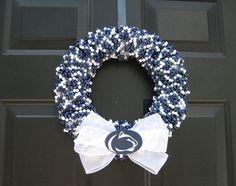 Customizable Beaded Door Wreath Any Team by APinkLemonadeDesigns, $55.00