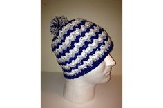 New tri colored wavy beanie! $20 and completely customizable to your team colors.