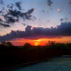 Instagram Photo:  San Antonio, Texas Sunset near Lackland Air Force Base where my son graduated from Air Force Bootcamp.  #sunsets http://instagr.am/p/PA2jMWzXet/