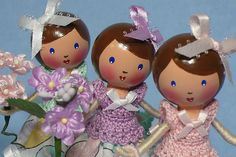 Sweet Little Easter Girls - Clothespin Dolls | Flickr - Photo Sharing!