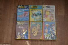 Entertain the kids in the car... beats listening to them argue!! Disney Audio Book lot of 6, Read along, Books on Cd, Nemo Beauty & Beast Monster