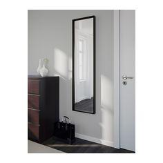 NISSEDAL Spiegel IKEA De spiegel kan worden gedraaid als je hem met de meegeleverde scharnieren monteert.