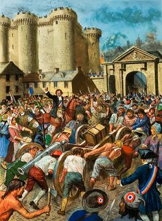 The French Revolution - Storming the Bastille (Original) art by Ken Petts Camille Desmoulins, Storming The Bastille, Prison, French Revolution, Mexican Revolution, Mexican American War, Historia Universal, Political Art, Military Art