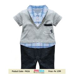 0de1fdab3bf1e Little Boy One Piece Romper Sets with Attach T-shirt