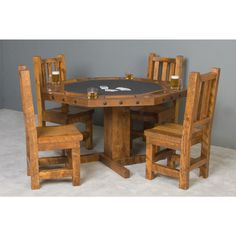 Convertible Barnwood Poker U0026 Dininig Table By Vikinglog Furniture    Americana Poker Tables