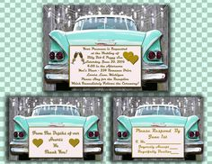 Printable WEDDING INVITATION DESIGN 1950s by ChangingArtitudes