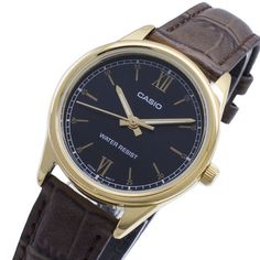 LTP-V005GL-1B2 Casio Watch Gold Price, Casual Watches, Casio Watch, Omega Watch, Lady, Affordable Watches, Leather, Accessories, Retro