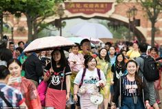 The launch of the $5.5-billion Shanghai Disney resort, representing one of the biggest ever foreign investments in China, comes as growth in the world's second largest economy slumps
