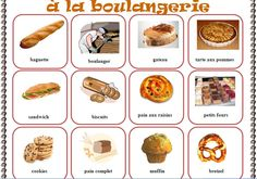 A la boulangerie - miam! How To Teach Grammar, Teaching Grammar, Teaching Tips, How To Speak French, Learn French, Bullentin Boards, Kindergarten Language Arts, French Class, Montessori Materials