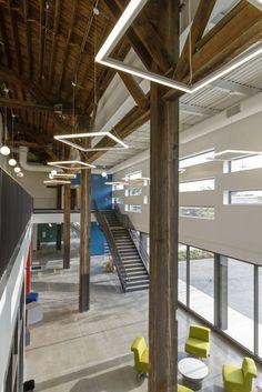 Intrinsic School (repurposed lumberyard in Chicago) | Wheeler Kearns Architects