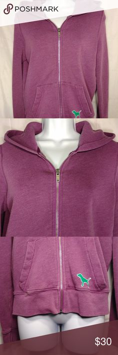 "Victoria's Secret PINK Zip Up Hoodie Purple Medium Victorias's Secret Phi Beta Zip Up Hoodie Size: Medium Color: Purple, White, Green Design: Phi Beta Neckline: Zip up Sleeves: Long Sleeve Materials: 100% Cotton  Measurements (approximate) Length: 23"" Underarm to underarm (laying flat): 21""   Condition: Very lightly worn.  In excellent condition.  No stains, rips, or holes. PINK Victoria's Secret Tops Sweatshirts & Hoodies"