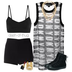 DKNY, created by dash-of-thug on Polyvore