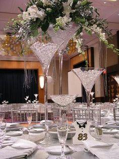 31 best martini glass centerpiece images glass centerpieces rh pinterest com
