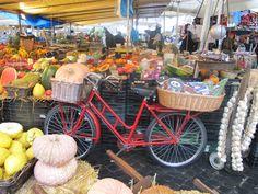 Campo de' Fiori market in the heart of Rome.