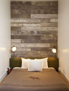 wood paneling wall // hang by circle time area Plywood Wall Paneling, Wood Panel Walls, Home Bedroom, Bedroom Wall, Bedrooms, Home Decor Styles, Cheap Home Decor, Style At Home, Ace Hotel Portland