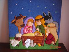 Felt Christmas Ornaments, Christmas Nativity, Christmas Art, Christmas Stockings, Christmas Decorations, Handmade Christmas, Nativity Crafts, Xmas Crafts, Christmas Quilt Patterns