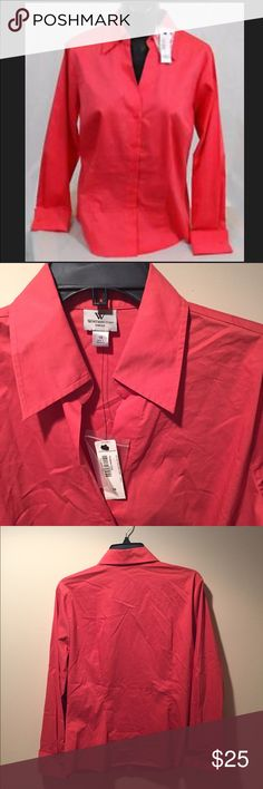 🆕 Worthington Timeless Coral Button Down Shirt ☀️ Brand new with tags! Thank you for looking!  #ygwyt002 Worthington Tops Button Down Shirts