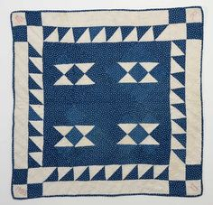 Double Hourglass Crib Quilt: Dated 1900; Pa.