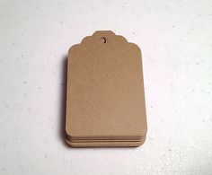 Kraft Paper Brown Tags 275 inches Set of 50 by papercutscompany, $5.00