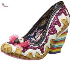 Irregular Choice Sweet Treats, Escarpins femme - Multicolour (White Multi), 39 EU - Chaussures irregular choice (*Partner-Link)