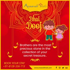 Brothers are like streetlights along the road, they don't make the distance any shorter but they light up the path and make the walk worthwhile. Warm wishes of the festival Bhai dooj from Arravali trails. Adventure Resort, Brother And Sister Love, Tribal People, River Bank, 1st Night, Folk Dance, Best Resorts, Best Location, Wildlife Photography