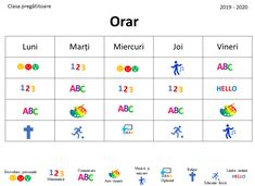 Editable Timetable in Romanian, Timetable with Images by Ema La Scoala Visual Timetable, School Timetable, Dinosaur Classroom, Classroom Rules, At Home Workout Plan, At Home Workouts, Superhero Alphabet, Bee Pictures, Rapunzel Sun