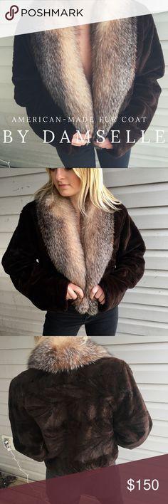 Cute Fur Coat Real fur coat, super warm, hardly worn, good condition Damselle Jackets & Coats