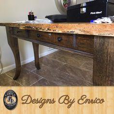 English Chestnut Receptionist Desk with a custom built lockbox  #woodworking #wood #woodwork #woodworker #handmade #custommade #custom #furniture #furnituredesign #interiordesign #interiorstyling #decor #design #artist #designer #style de designsbyenrico
