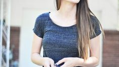 Super Easy Tee Shirt Maxi Dress Tutorial (Knit Fabric)