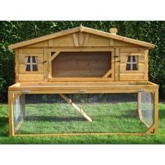 Pinnacle Mansion Rabbit Hutch. If I didn't have to clean up after it (and it could live all year outside), I would get a rabbit with a hutch like this.
