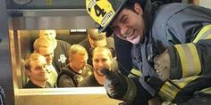 Firefighters Are Happy To Rescue 12 Police Officers Stuck Inside Elevator | The Huffington Post