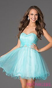 Buy Short Strapless Sweetheart Dress at PromGirl