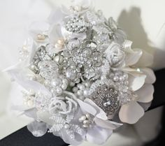 Bead and Brooch Bouquet