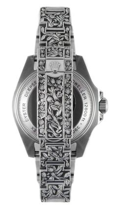 Engraved Rolex Sea-Dweller Deepsea clasp - unique piece by Huckleberry LA - Perpetuelle
