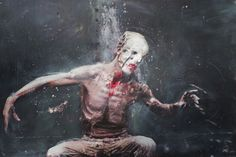Artist: Olivier De Sagazan | Dark Art | This guy is bloody awesome